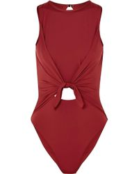 Skin - The Naomi Tie-front Cutout Swimsuit - Lyst
