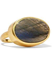 Pippa Small | 18-karat Gold Labradorite Ring | Lyst