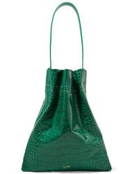 Tl-180 - Fazzoletto Croc-effect Leather Shoulder Bag - Lyst