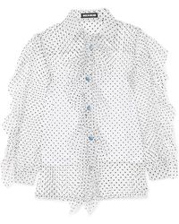 House of Holland - Ruffled Swiss-dot Tulle Shirt - Lyst