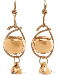 Marni - Gold-tone Earrings - Lyst