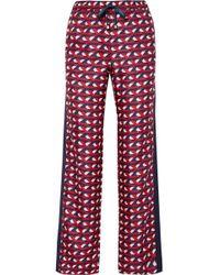 F.R.S For Restless Sleepers - Ettore Grosgrain-trimmed Silk-twill Straight-leg Pants - Lyst