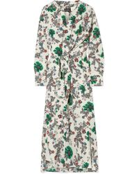 Isabel Marant - Calypso Floral-print Silk-blend Crepe De Chine Wrap Dress - Lyst