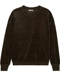 Vince - Cotton-velvet Sweater - Lyst