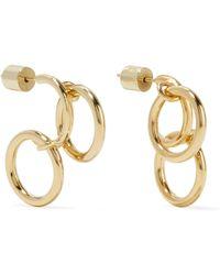 Jennifer Fisher - Triple Hoops Gold-plated Earrings - Lyst