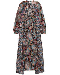 5d1276c75d77 Anjuna - Amira Embellished Printed Silk-twill Midi Dress - Lyst