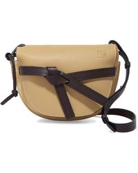 Loewe - Gate Small Leather And Suede Shoulder Bag - Lyst
