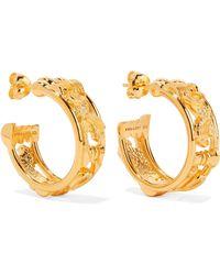 Lucy Folk - Sottsass Sphinx Gold-plated Hoop Earrings - Lyst
