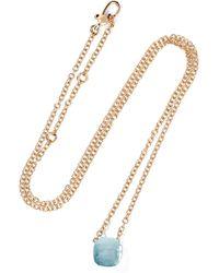 Pomellato - Nudo 18-karat Rose Gold Topaz Necklace - Lyst