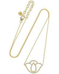 Amrapali - Thamarai Lotus 18-karat Gold Diamond Necklace - Lyst