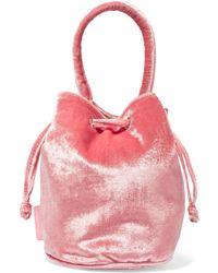 Loeffler Randall - Jesmyn Velvet Bucket Bag - Lyst