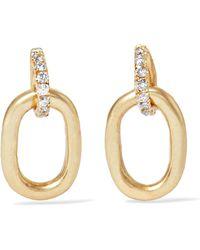 Pamela Love - Tiny Beaumont 10-karat Gold Diamond Earrings - Lyst