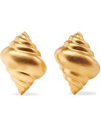 Kenneth Jay Lane - Gold-tone Clip Earrings - Lyst