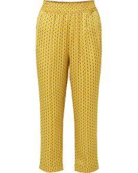 Asceno - Printed Silk-satin Pyjama Trousers - Lyst