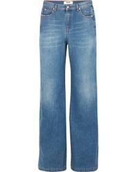 MSGM - High-rise Wide-leg Jeans - Lyst