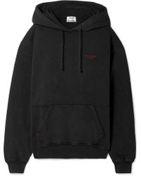 Acne Studios - Embroidered Cotton-jersey Hoodie - Lyst