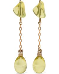 Marni - Gold-tone And Resin Earrings - Lyst