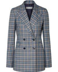 Gabriela Hearst - Angela Checked Silk And Wool-blend Blazer - Lyst