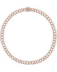 Anita Ko - 18-karat Rose Gold Diamond Choker Rose Gold One Size - Lyst
