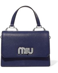 Miu Miu - My Miu Textured-leather And Suede Tote - Lyst