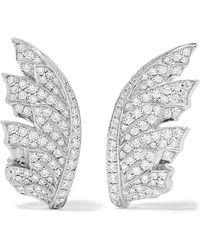 Stephen Webster - Magnipheasant 18-karat White Gold Diamond Earrings - Lyst