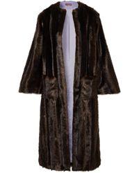 STAUD - Marcel Faux Fur Coat - Lyst