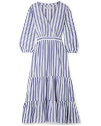 Madewell - Wrap-effect Striped Cotton Dress - Lyst