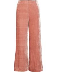 STAUD - Margaux Crushed-velvet Wide-leg Pants - Lyst