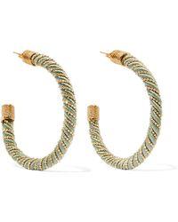 Rosantica - Incontro Gold-tone Cord Hoop Earrings - Lyst