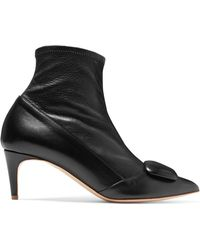Rupert Sanderson - Glynn Leather Sock Boots - Lyst