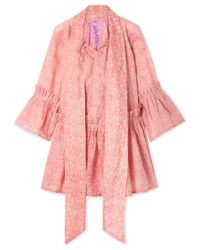 Yvonne S - Angelica Ruffled Floral-print Linen Tunic - Lyst