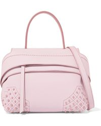 Tod's - Wave Mini Textured-leather Tote - Lyst
