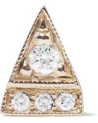 Jennie Kwon - Deco Point 14-karat Gold Diamond Earring - Lyst