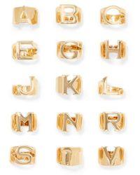 Chloé - Alphabet Gold-tone Ring - Lyst