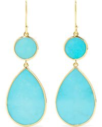 Ippolita - Polished Rock Candy 18-karat Gold Turquoise Earrings Gold One Size - Lyst