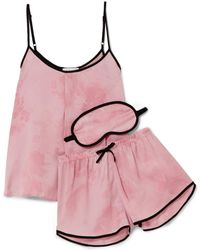 DKNY - New View Printed Satin Pyjama Set - Lyst