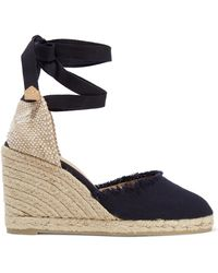 Castaner - Carina Frayed Canvas Wedge Espadrilles - Lyst