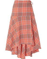 Ganni - Charron Wrap Skirt - Lyst