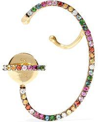 Ana Khouri - Lily 18-karat Gold Sapphire Earring - Lyst