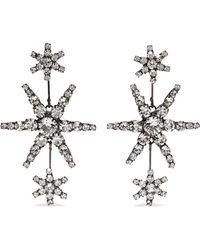 Jennifer Behr - Aries Gunmetal-tone Crystal Earrings - Lyst