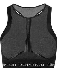 P.E Nation - Woolmark Spin Shot Printed Stretch Wool-blend Sports Bra - Lyst