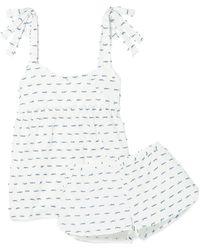 Three J Nyc - Jackie Fil Coupé Cotton-poplin Pajamas - Lyst