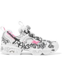 Vetements - Reebok Instapump Fury Printed Neoprene And Mesh Sneakers - Lyst