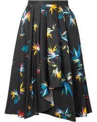 Jason Wu - Pleated Printed Cotton-poplin Skirt - Lyst