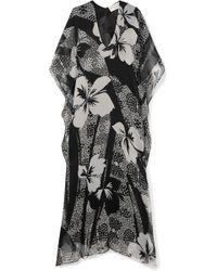 Marie France Van Damme - Printed Silk-chiffon Kaftan - Lyst
