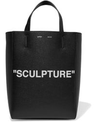 Off-White c/o Virgil Abloh - Medium Printed Textured-leather Tote - Lyst