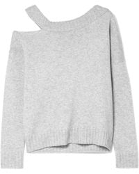 Vince - One-shoulder Cutout Wool And Cashmere-blend Jumper - Lyst