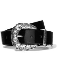 Magda Butrym - Patent Textured-leather Belt - Lyst