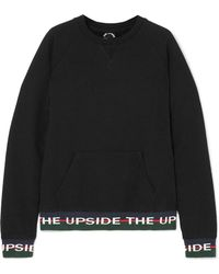 The Upside - Hook French Cotton-terry Sweatshirt - Lyst