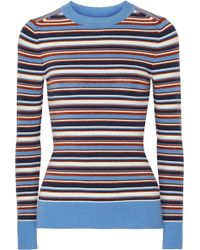 JoosTricot - Striped Metallic Knitted Sweater - Lyst